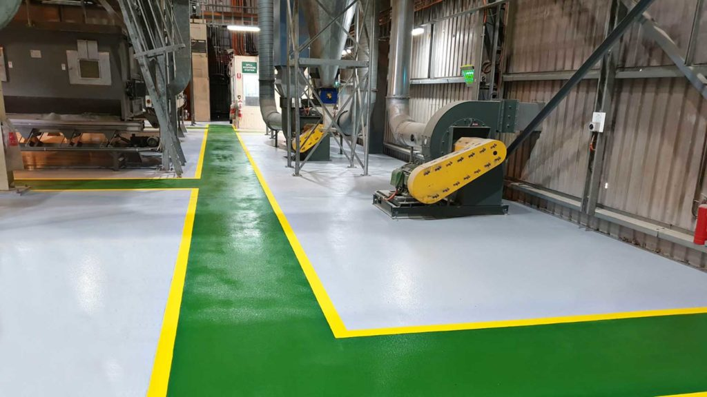 Forklift & Foot Traffic Segregation | Allied Finishes, Commercial Flooring Solutions
