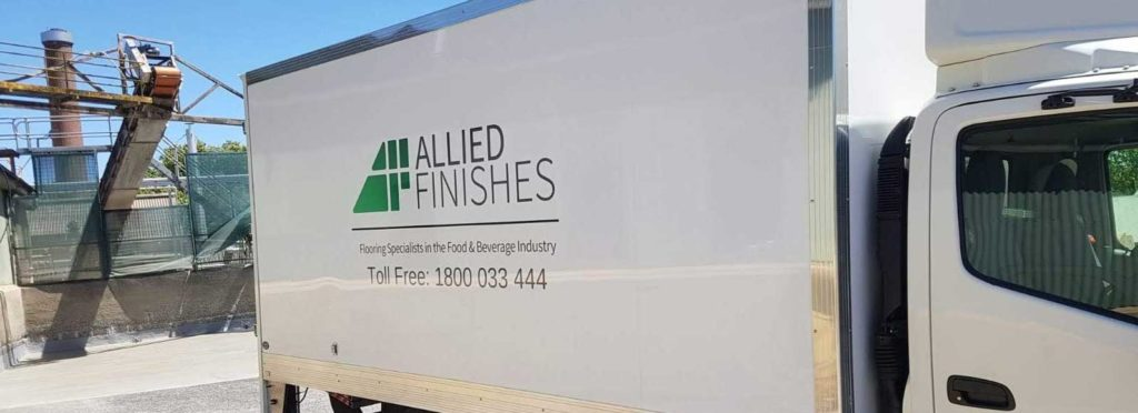 Branded Truck | Allied Finishes, Commercial Flooring Solutions